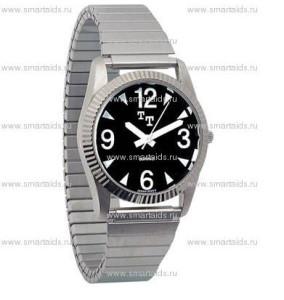 Часы мужские с чёрным циферблатом_1